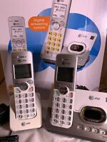 AT&T DECT 6.0 2 Handset Cordless Phone with Digital Answering System (EL52253)