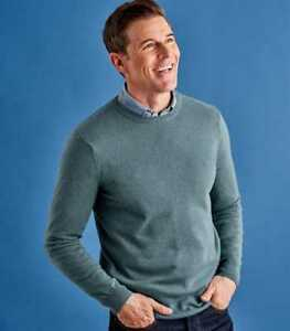 Cashmere & Merino Crew Neck Jumper Kingfisher Small TD087 RR 07
