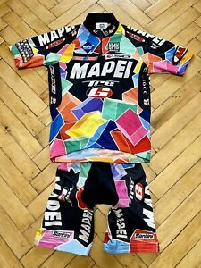 SMS Santini Mapei Men's Cycling Set Jersey + Bib Shorts Size S Made In Italy