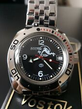 VOSTOK AMPHIBIAN AMPHIBIA 710634 Black Scuba Dude Russian Automatic Divers Watch