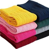 Kids Children Girls Thick Warm Cotton Blend Full Length Leggings Basic Pa