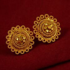 Indian Bollywood Wedding Earrings Traditional Goldpated Stud Fashion Jewelry