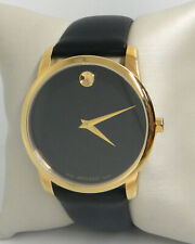 MOVADO MUSEUM CLASSIC BLACK LEATHER BAND MEN'S 40MM WATCH 0606876 $595
