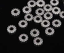 100pcs 8mm Tibetan Silver Round Loose Spacer Metal Beads Jewelry Findings