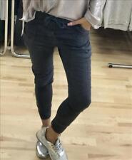 PLACE DU JOUR ITALY VINTAGE Jogger Jeans Skinny Pantalon Boyfriend Taille S 36 Gris