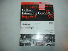 1999 Mitchell Asian 2 Subaru Toyota Collision Parts Time Estimating Manual Guide