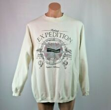 VTG 80s Fishing Expedition Catch & Release Sweatshirt Fisherman XL USA MADE