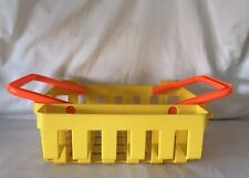 Vintage Fisher Price Fun with Food Deluxe Grocery Shopping Basket 1984 Yellow