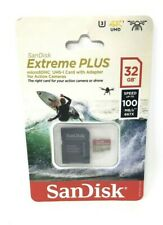 SanDisk Extreme Plus Micro SDHC UHS-1 Card With Adapter 32 GB