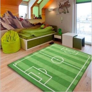 Infant Baby Kids Crawling Game Play Mat Rug Football Soccer Grass Field Carpet