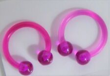 Purple Flexible Bioplast Hospital Retainers No Metal Horseshoes 16 gauge 16g