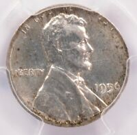 PCGS 1c 1956 Wheat Cent on Silver Dime Planchet MS64
