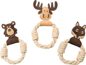 Ethical Spot Dura-Fuse Leather with Rope Ring Dog Toy 11in   Free Shipping