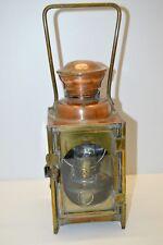 RARE LAMPE  DEHAIL & GRENIER LAMPE de CHEMINOT CHEMIN de FER Cuivre laiton verre