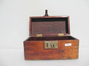 """Victoria Wooden Writing Box Antique Old Crate Wood Display Drawer Vintage 9""""W"""