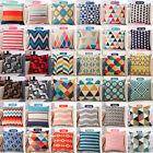 Fashion Geometric Stripe Cotton Linen Throw Pillow Case Cushion Cover Home Decor
