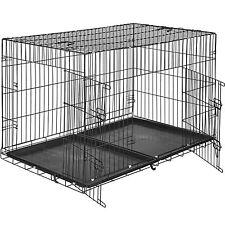 Cage pour chien Box de transport boîte cage parc à chiots canine 122 x 76 x 81cm