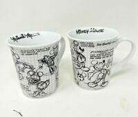 Disney Sketchbook Mickey Mouse Coffee Cups BUNDLE SET / Mugs NEW  Minnie Mickey