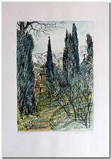 Arno Fleischer - Original Grafik Lithographie AUF DER KRIM coloriert -06426-