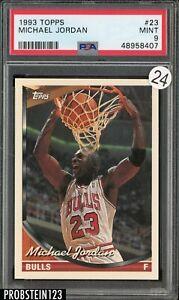 1993 Topps #23 Michael Jordan HOF PSA 9