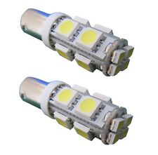 2 BA9S PURE White LED Front Side light TX1 TX2 T4W 233 12V SMD London Taxi Cab
