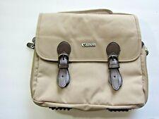 Canon Camera/Lens Canvas Bag W/ Shoulder Strap Tan
