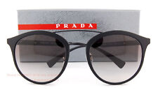 889a10380a2d PRADA PR PS 04rs Dg0-0a7 Black Rubber Frame Grey Shaded Lens Sunglasses 54