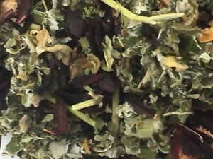 Raspberry , Marshmallow, Hibiscus flowers 200g ORGANIC Herbal tea infusion blend