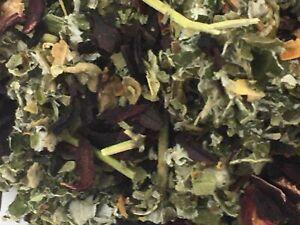Raspberry , Marshmallow, Hibiscus flowers 50g ORGANIC Herbal tea infusion blend