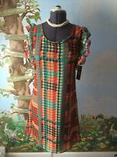 Christine V Women Multi-color Ruffled Sleeve Dress SZ M NWT