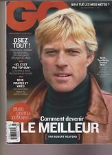 GQ FRENCH MAGAZINE #107 MARS 2017, ROBERT REDFORD COVER.