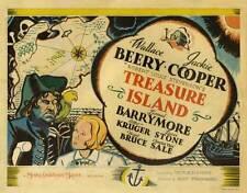 TREASURE ISLAND Movie POSTER 22x28 Half Sheet Wallace Beery Jackie Cooper Lionel