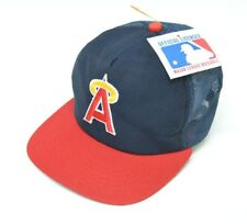 MLB Era LA Angels Trucker Baseball Hat Cap Mesh Snapback Rare S M USA  Vintage 457341d121d7