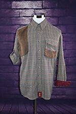 Mens BRAEVAL Tiera Artemis Plaid Button Down Medium L/S Wool Blend Vented Shirt