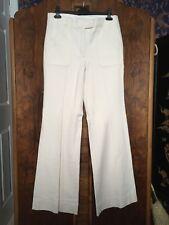 Mango PremiumWomens Cream White Flared 70s Jeans  EU 42 UK 14