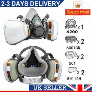 Spray 7 in 1 Gas 6200 Respirator Facepiece Filter Work Paint Safety Shield UK