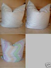 Kissenbezüge  Polyestersatin Größe 80 cm x 80 cm 3 Dessins Silbergrau Multicolor