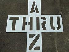"24"" x 12"" Parking Lot Alphabet Stencils Parking Lots, Playgrounds 1/16"" LDPE"