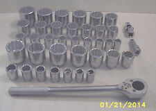 Proto 12-Point 3/4 Drive Tool Socket Set - 39 Piece SAE / Metric - NEW!