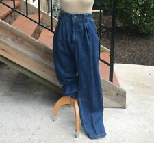 Vintage 90s Lee Baggy Fit Tapered Leg Mom Jeans Nos High Waist Elastic 18 Petite