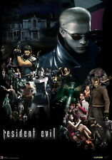 "104 Resident Evil - 1 2 3 4 5 6 7 Biohazard Zombie Shoot TV Game 14""x20"" Poster"