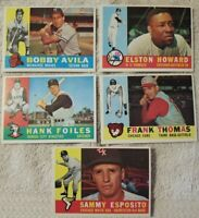1960 TOPPS ELSTON HOWARD PLUS OTHERS BASEBALL CARDS ALL IN EX CONDITION