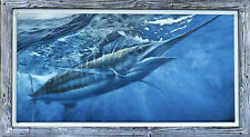 "K. Scott Left-Long Canvas Framed 24""x 48"" Print (FREE SHIPPING)"