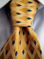 Men's Jos. A. Bank Beige Yellow Silk Tie 21110