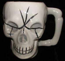 Ceramic Cream White Coffee Mug Skull Head Fright Kitchen Decoration Halloween