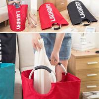 Lessive panier de tissu sac à linge Pliable corbeille de rangement vêtements