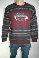 CONTE OF FLORENCE MAGLIONE UOMO TG. 50 MAN CASUAL VINTAGE SWEATER L143