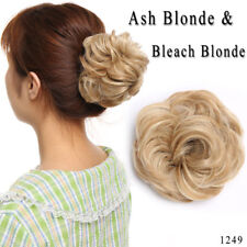 100% Real Natural Curly Messy Bun Hair Piece Scrunchie US Fake Hair Extensions