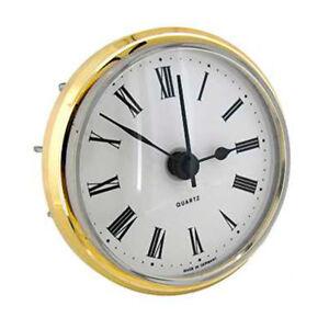 New Quartz Clock Movement Insert, Roman Numerals 103 mm Dia & 17mm Seating Depth