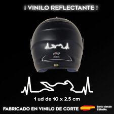 VINILO CARDIOMOTO BLANCO REFLECTANTE STICKER PEGATINA MOTO CASCO ADHESIVO